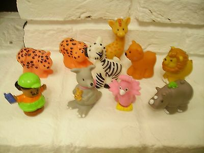 Fisher Price Little People Zoo / Noahs Ark Extras 10 Little People Figures