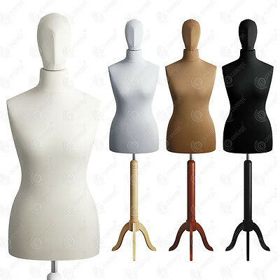 SIZE 12-14 FEMALE Mannequin with Head Tailors Bust Dressmakers Dummy Torso S01