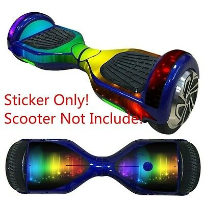 Cover Vinyl Skin Sticker for 6.5'' 2 Wheel Self-Balancing Scooter Hoverboard New