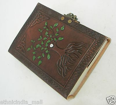 Handmade Tree of Life Leather Journal Blank Diary Grimoire Book of Shadows Wicca