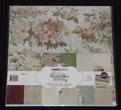 "Kaisercraft 'CHERRY TREE LANE' 12x12"" Paper Pk + Stickers Vintage/Floral KAISER"