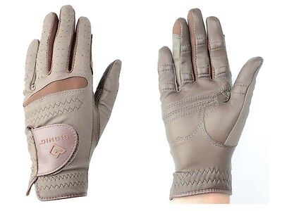 Bionic RelaxGrip Riding Gloves - Brown - LEATHER LADIES HORSE RIDING GLOVES