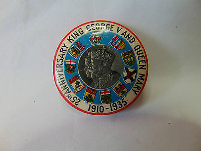 25th Anniversary KING GEORGE V & QUEEN MARY 1910-1935 Pin