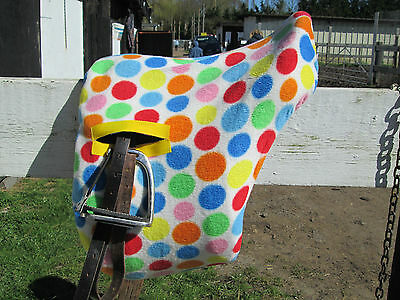 patterned fleece ride on saddle covers
