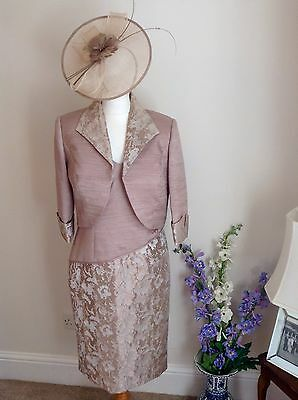 Zeila Mother of the Bride Outfit Nude/ Rose Gold size 14 BNWT £490