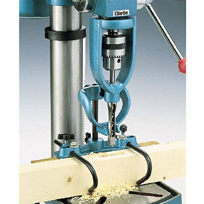 Clarke CMA1B Mortising Attachment + 4 mortice chisels & adaptor rings 6500023