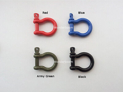 Stainless Steel Buckle Anchor Shackle Emergency Survival Paracord Bracelet 5mm