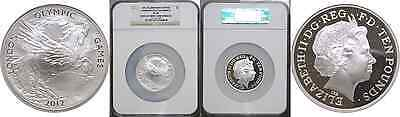 2012 Great Britain 10 Pound Silver Proof London Olympics NGC PF 70 First Strike