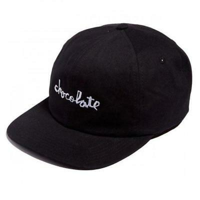 Chocolate Skateboards Unstructured Chunk 6 Panel Strap Back Hat Black