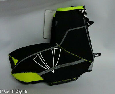 DMT Diamante Copriscarpa Winter 01 Neoprene Road Black Yellow Fluo