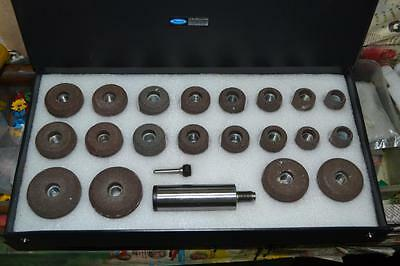 """Sioux Valve Seat Grinding Wheels Set Of 20 Pcs + Stone Holder Star Drive 11/16"""""""