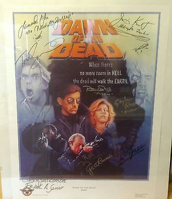 One-Of-A-Kind Dawn Of The Dead Signed Print (10 Autographs) Romero Savini