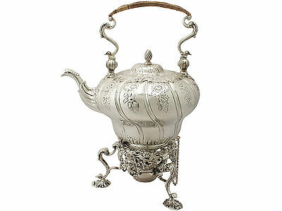 Sterling Silver Spirit Kettle by William Grundy - Antique George III