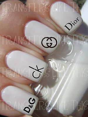 DESIGNER MODE LOGOS 30 Stickers ongles manucure nail art water décal