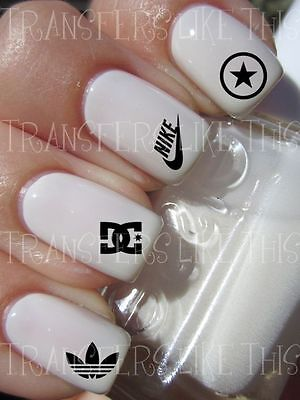 DESIGNER SPORT LOGOS 30 Stickers ongles manucure nail art water décal