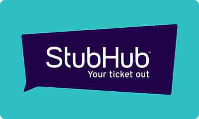 StubHub Gift Card - $25 $50 $100 $150 or $200 - Email delivery
