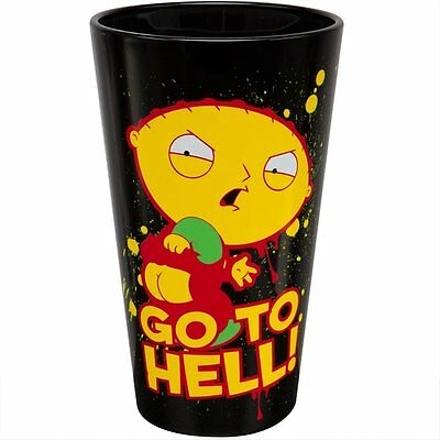 "Family Guy Stewie ""Go To Hell"" 16oz Pint Glass"