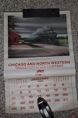 Chicago And North Western 1990 Calendar   **two Sided**