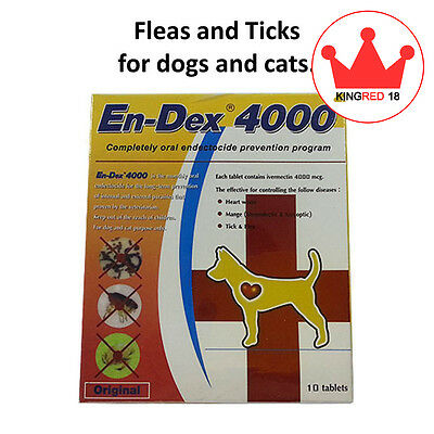 Pet tablet pill 4000 Remove Prevent Ticks and Fleas for Cats & Dogs