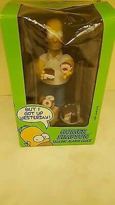 Homer Simpson Wesco Talking Alarm Clock 1998 - The Simpsons Vintage Rare