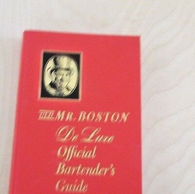 Vintage  1964 Old Mr. Boston Deluxe Official Bartender's Guide