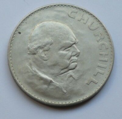 1965 Crown Coin Issued To Commemorate The Death Of Sir Winston Churchill