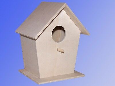 Bird house,Nesting box Wooden untreated,also for Children Decorative house Paint