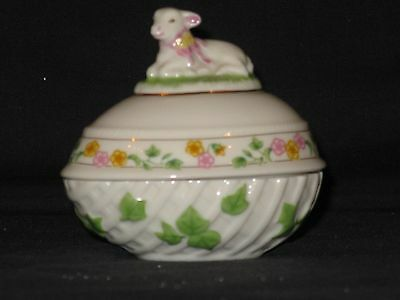 Lenox China: THE LAMB EASTER EGG 1995 LIMITED EDITION