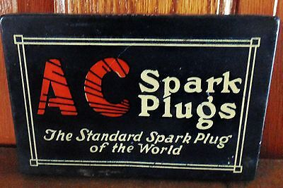AC spark plug tin old delco 1920 1930 gas station oil sign Chevy Buick