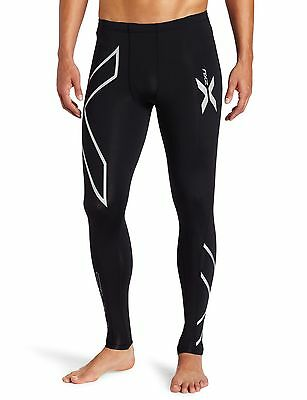 2XU Men's Compression Tights Black/Silver Logo Small