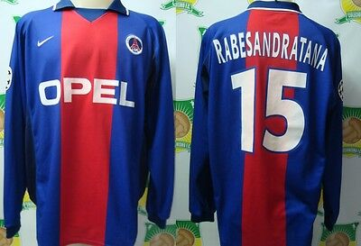 Match Worn Shirt Psg France 2001 Uefa Champions League # 13 Changed With Mauro S