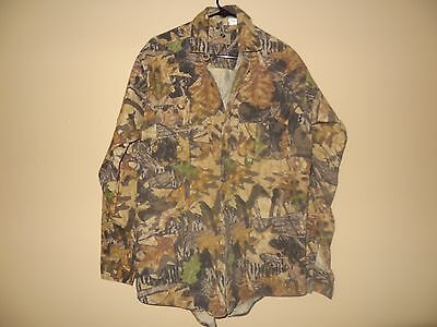 MEN'S Large MOSSY OAK CAMO HEAVY SHIRT JACKET BUTTON UP HUNTING Camouflage L