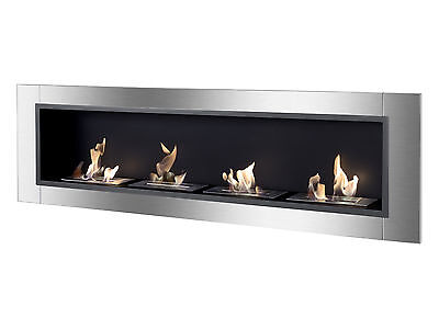 Ignis Bio Ethanol Fireplace, Ventless Recessed Fireplace - Accalia