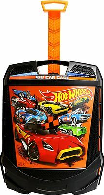New Hot Wheels 100 Car Case Storage Handled Tote On Wheels
