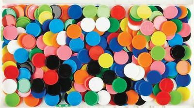 500pk Maths Games Counters Coloured Round - BULK BUY FREE POST