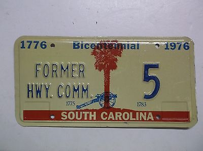 1976 76 SC South Carolina Former Hwy Commissioner License Plate Tag LOW NUMBER