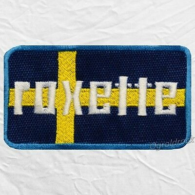 Roxette Word Logo Embroidered Patch Pop Rock Per Gessle Marie Fredriksson Sweden