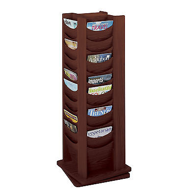 Wood Rotating Literature Display 48 Pocket