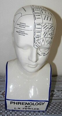 Collectable Antique Style Porcelain Phrenology Head Fowler..