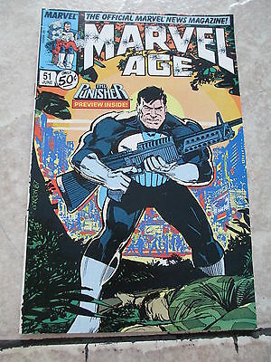 Marvel Age The Punisher Comics Book Number 51 June 1987