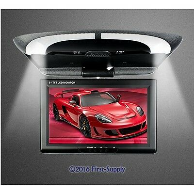 "9"" Roof Mount Ceiling LCD Display In-car Monitor For DVD MP5 DVR Reversing Cam"