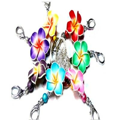 Lanyard Necklace Colourful Frangipani flower, id badge, key holder cruise