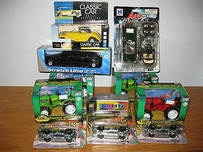 job lot 11 boxed cars....all unused - stocking fillers