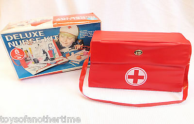 Vintage Childrens Nurse Kit Toy Doctor Play Set Little Learners Sears in box 60s