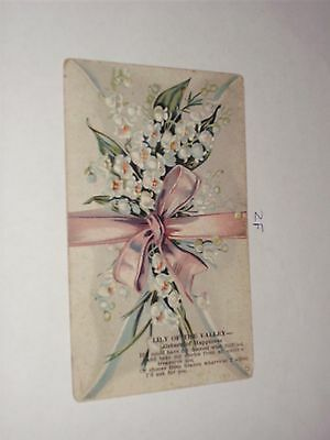 1909 Language of Flowers Envelope Lily of the Valley Return of Happiness present