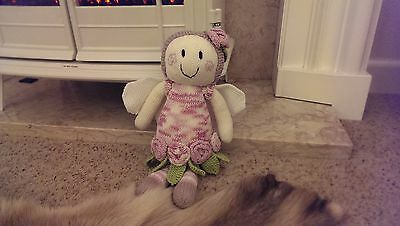 """Brand New - Hand Knitted Cuddly Fairy Doll Soft Toy 15"""" Patons Rosie"""