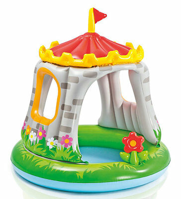 Intex Royal Castle Baby Swimming Pool with Shade Ball Pit