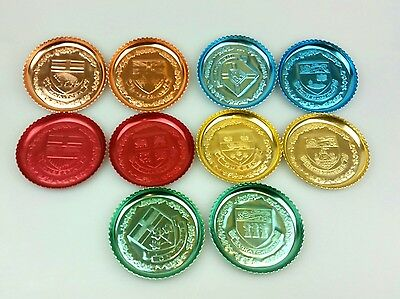 Retro - Lot Of 10 Anodised Drink Coasters - Canada - Tourist Collectable