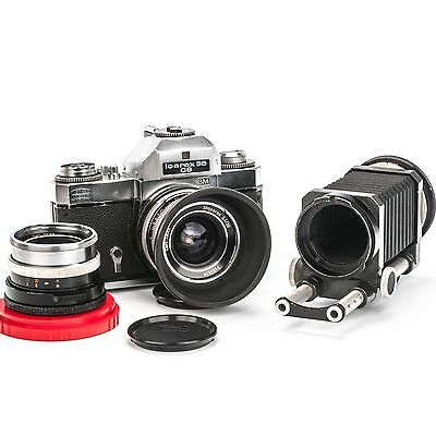 Zeiss Ikon Icarex 35CS SLR with 2 Zeiss Lenses and Close-Up Macro Bellows