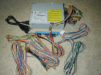 JAMMA harness with power supply wired in with up to 6 buttons per player mult